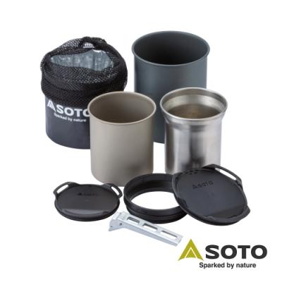 日本SOTO 鈦杯/不銹鋼杯料理組 SOD-521