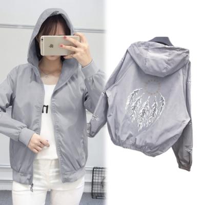 【韓國K.W.】(現貨) 氣質好衣輕薄涼感風衣防曬外套