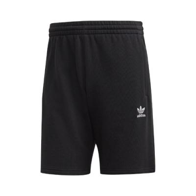 adidas 短褲 Essentials Shorts 男款 愛迪達 運動休閒 膝上 寬鬆 基本 口袋 黑白 FR7977