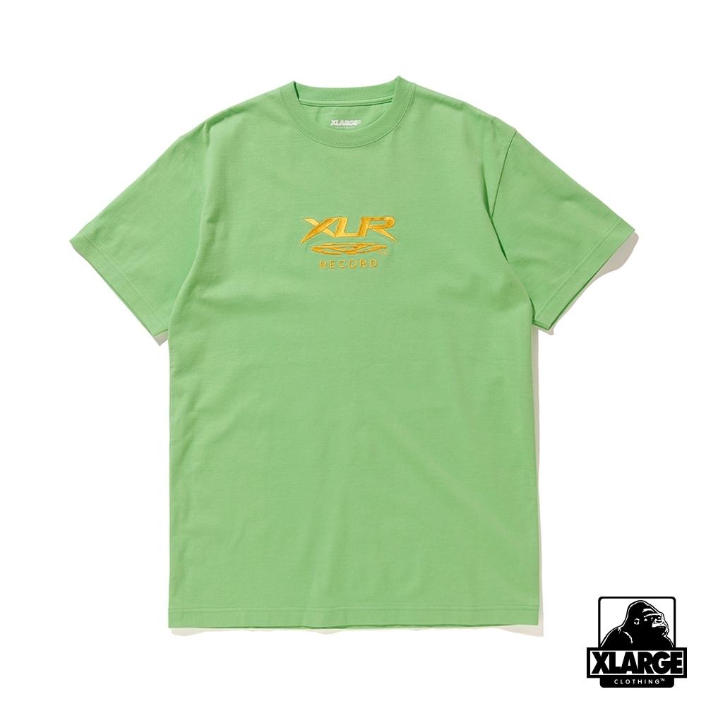 XLARGE S/S TEE XLR RECORD短袖T恤-亮綠