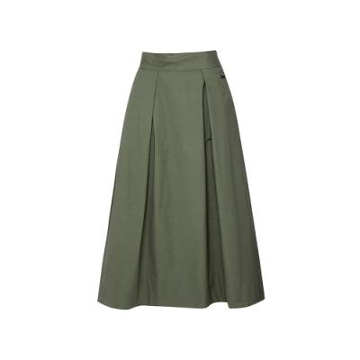 FILA #日潮攻略首部曲 女平織長裙-橄欖綠 5SKU-1434-OV