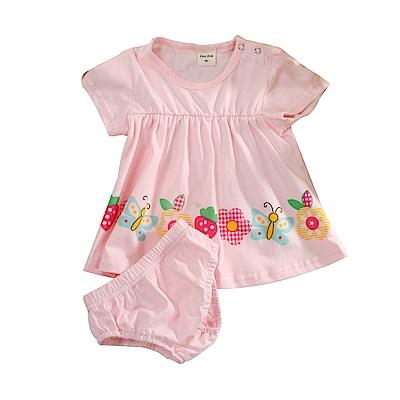 女寶寶短袖連身裙內褲組 k51144 魔法Baby