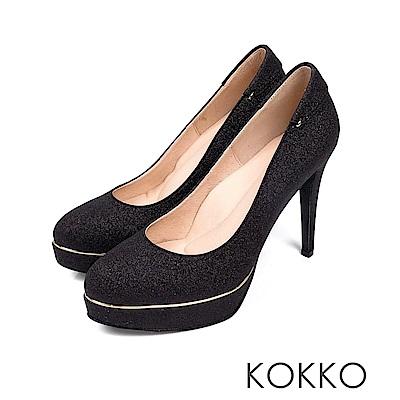 KOKKO - 女王的盛宴炫燦手工超高跟鞋-氣勢黑