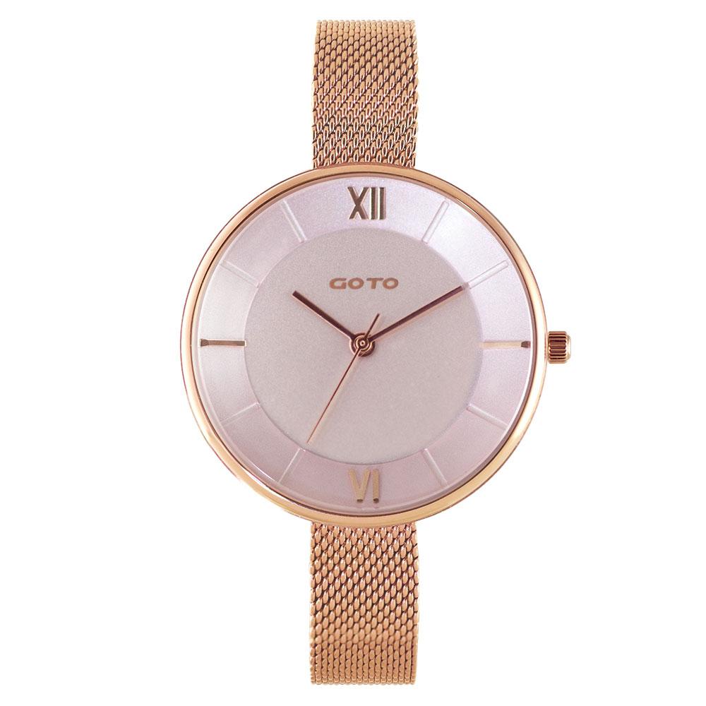 GOTO Marine 海洋系列精品時尚手錶-IP玫x粉/33mm