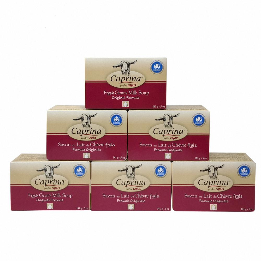 Caprina 肯拿士 新鮮山羊奶皂141g(經典原味6入組)
