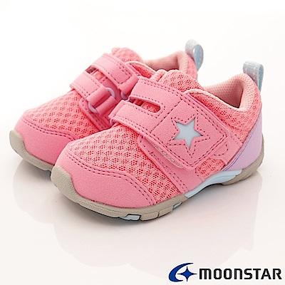 日本月星頂級童鞋 機能抗菌款 EI84粉(寶寶段)
