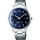agnes b. 簡約時尚手寫時標手錶(BG8006X1)-藍x銀/37mm product thumbnail 1