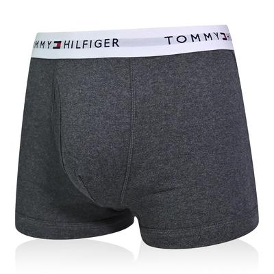Tommy Hilfiger Cotton Stretch 男內褲 短版棉質高彈性合身平口褲/Tommy四角褲-深灰