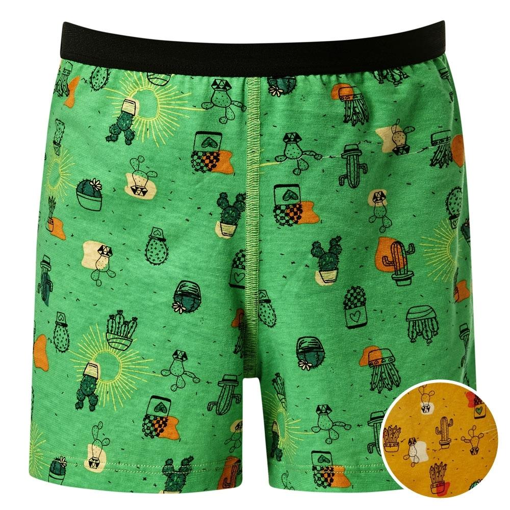 DADADO-仙人掌 110-130 男童內褲(橘)