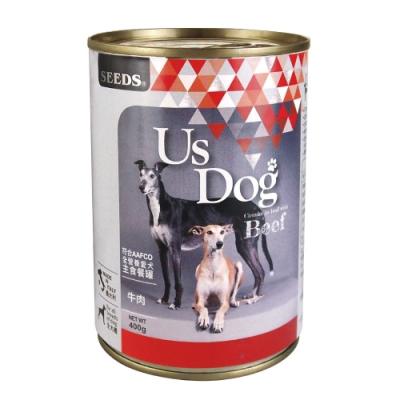 Seeds 聖萊西-Us Dog愛犬主食餐罐-牛肉風味(400gX24罐)