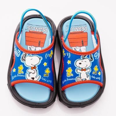 SNOOPY童鞋 史努比拖鞋款 NI5026藍(中小童段)