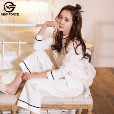 NEW FORCE 韓版時尚寬腿居家套裝