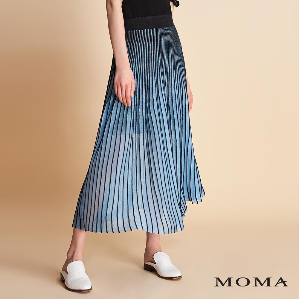 MOMA 直條紋亮蔥織裙