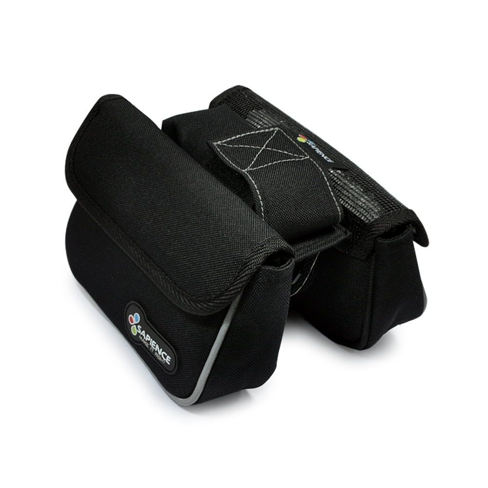 SAPIENCE 萬用上管雙層袋 馬鞍包 -附手機袋