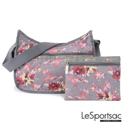 LeSportsac - Standard側背水餃包/流浪包-附化妝包 (吉普賽玫瑰)