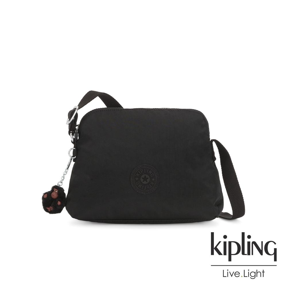 Kipling 質感黑隨身斜背包-DIEP