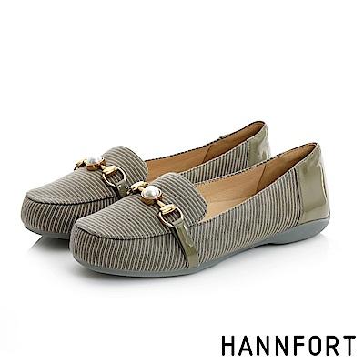 HANNFORT RIPPLE華美珍珠樂福鞋-女-復古綠