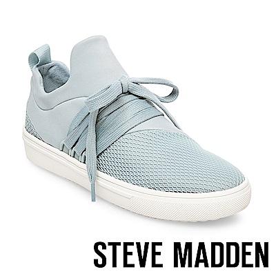 STEVE MADDEN-LANCER 網布拼接綁帶休閒鞋-水藍