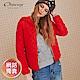 OUWEY歐薇 菱格紋連帽鋪棉內層絨毛外套(黑/灰/藍/綠/紅) product thumbnail 1