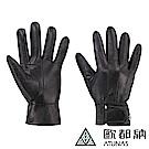 【ATUNAS 歐都納】男款羊皮保暖手套(A-A1840M黑/抗風/真皮/質感配件)