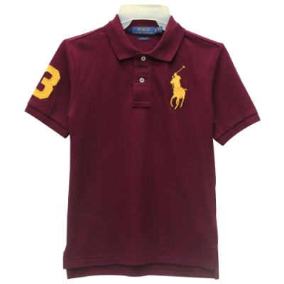 Ralph Lauren CLASSIC FIT 大童大馬短袖POLO衫-紅色