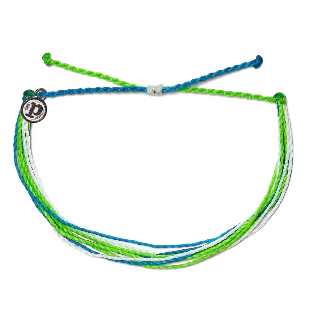 Pura Vida 美國手工 ELECTRIC WAVES藍綠電波 基本繽紛款可調式手鍊