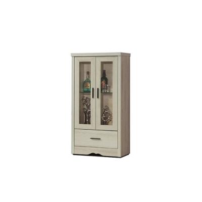 AS-仿古風灰橡2尺收納櫃/餐櫥櫃/高桶櫃/展示櫃-60.6x39.4x121.2cm