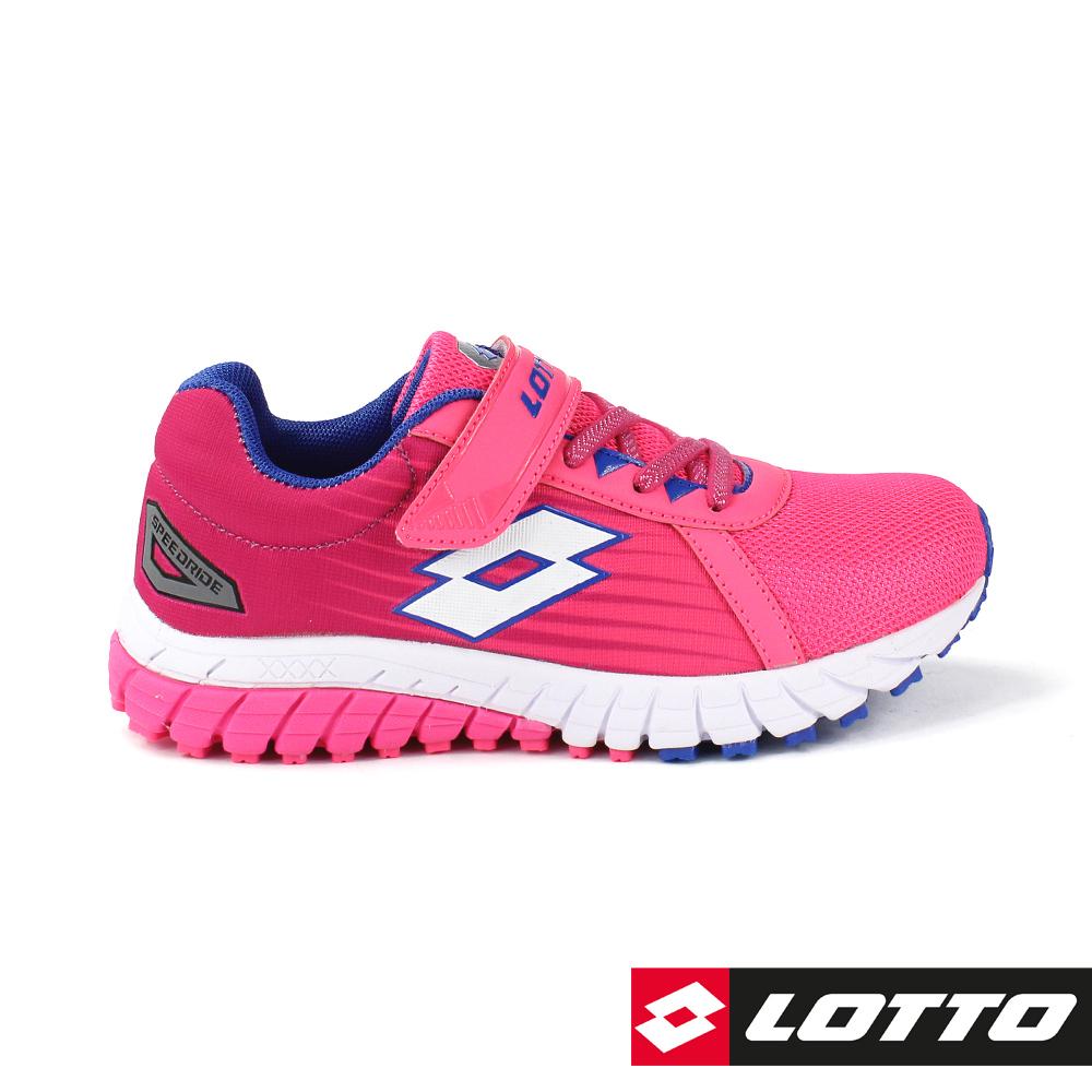 LOTTO 義大利 童 SPEEDRIDE 雙密度跑鞋 (桃紅)