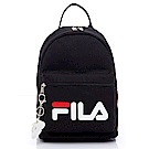 FILA 小型後背包(附鑰匙圈)-黑 BPS-5103-BK