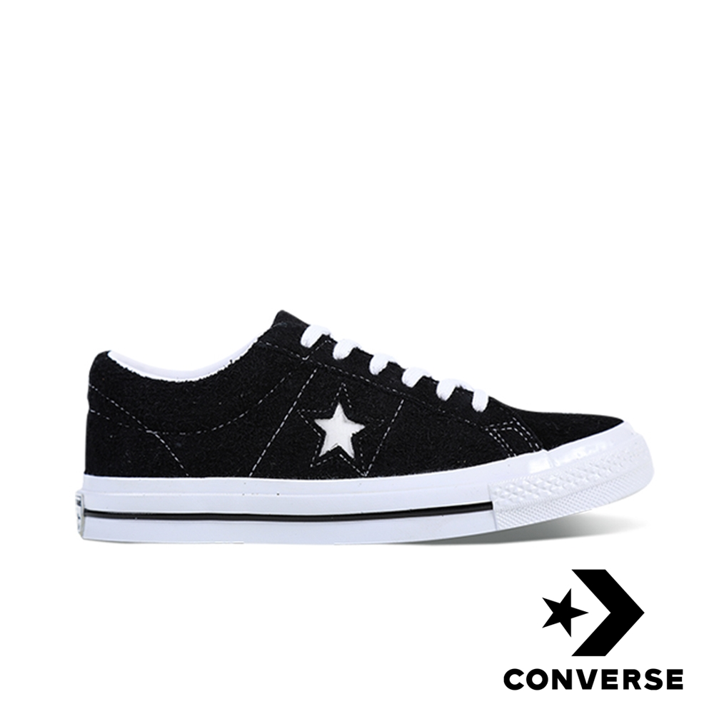 CONVERSE-ONE STAR男女休閒鞋-黑 product image 1