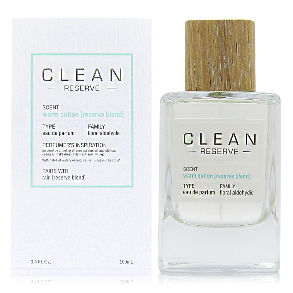 CLEAN RESERVE Warm Cotton 溫暖棉花淡香精 100ml product image 1