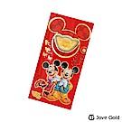 Disney迪士尼金飾 迪士尼系列金飾-黃金元寶紅包袋-米奇米妮款