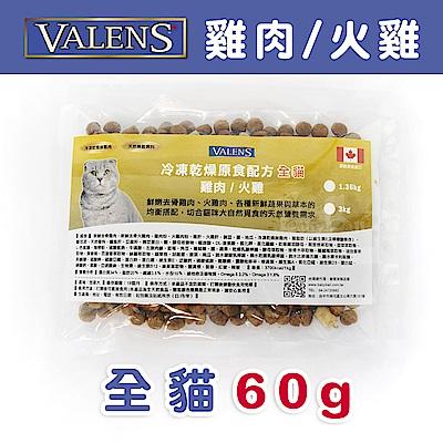 【VALENS威倫】全貓-冷凍乾燥原食配方-雞肉/火雞 外出包60g