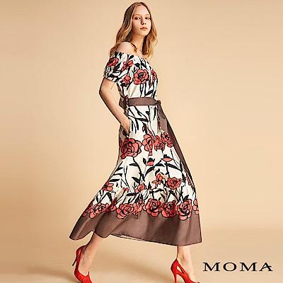 MOMA 花卉綁帶洋裝