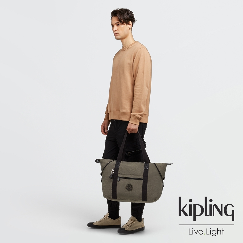 Kipling 炭焙濃韻綠手提側背包-ART M