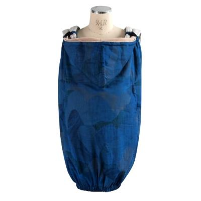 NAOMI ITO 水波紋保暖披巾(藍)