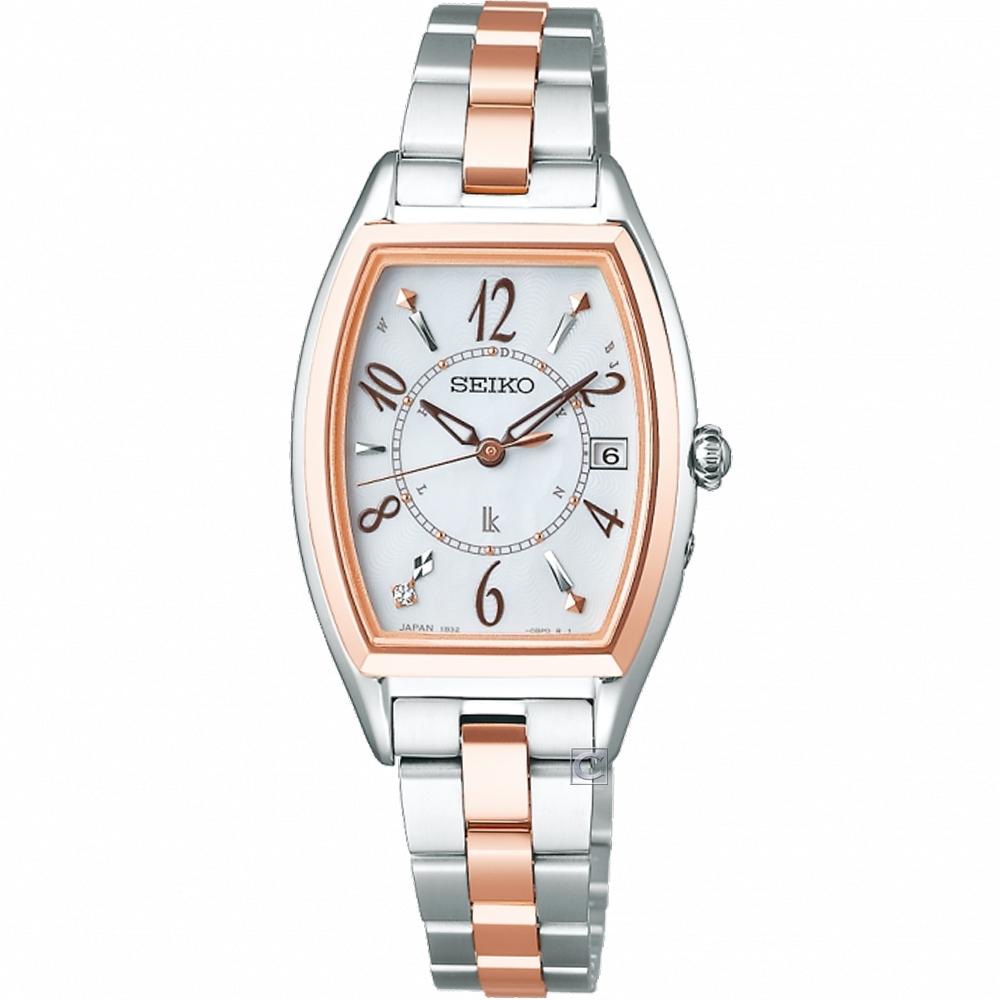 SEIKO 精工 LUKIA SSQW054J 鈦金屬太陽能電波腕錶(1B32-0AJ0KS)