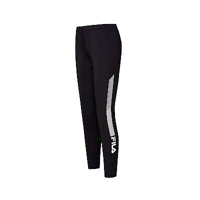FILA 女吸排抗UV針織長褲-黑 5PNT-1323-BK