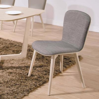 H&D 喬克原木橡木灰布餐椅
