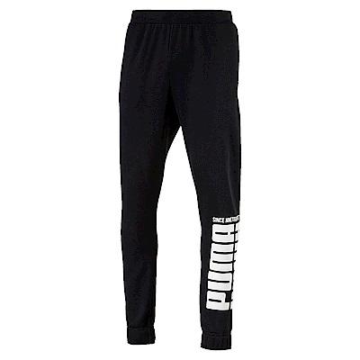 PUMA-男性基本系列刷毛長褲-黑色-亞規