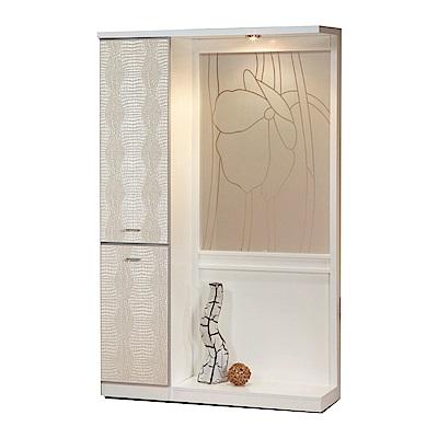 綠活居 潘柏4尺二門屏風雙面櫃/玄關櫃(二色)-118.5x39x195cm-免組