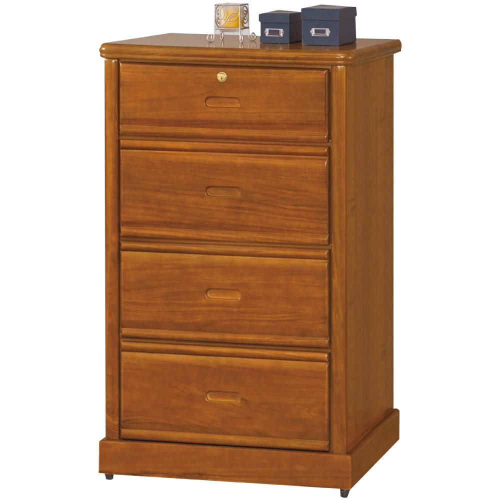 綠活居 巴斯時尚2.5尺實木四斗櫃/收納櫃-75.5x52.5x121cm免組