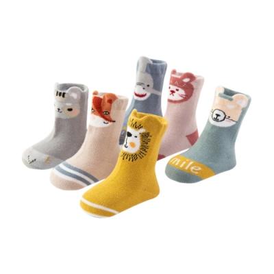 colorland【5雙入】童襪嬰兒襪子寶寶防滑襪 秋冬鬆口立體動物造型短襪
