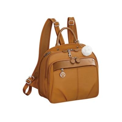 Kanana卡娜娜 多功能尼龍小型手提後背兩用包-橙色