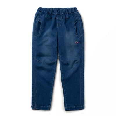PIPPY內翻口袋刷白牛仔褲-藍色