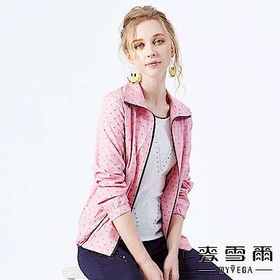 【麥雪爾】抽象刺繡短版薄外套
