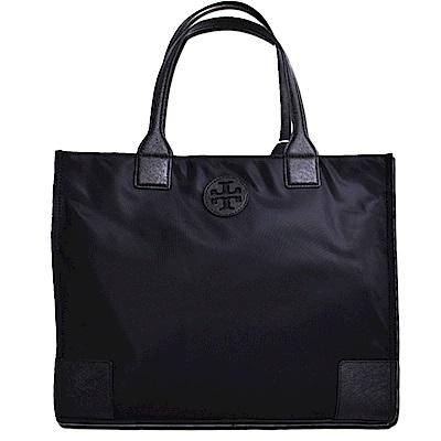 TORY BURCH ELLA縫線尼龍拉鍊肩背包-中/氣質黑 @ Y!購物