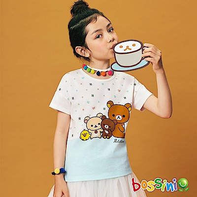 bossini女童-拉拉熊系列印花短袖T恤06灰白