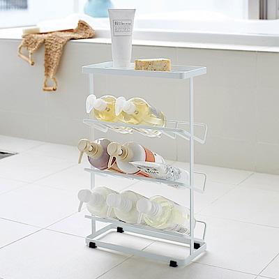 日本【YAMAZAKI】tower分層瓶罐置物架(白)★浴室收納/置物架/收納架
