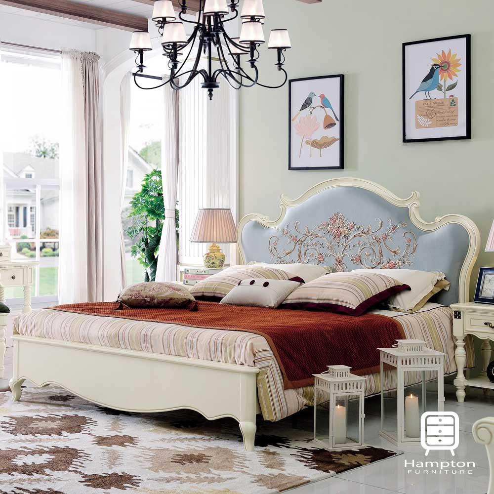 漢妮Hampton萊茵系列法式6尺雙人床架-204x203x142cm